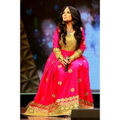 Aryana sayeed with traditional afghane dress