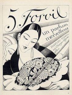 Numéro 5 by Forvil Parfumes,1927. Illustrator: Gerda Wegener
