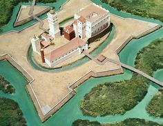 Reconstruction of the Łowicz castle in about 1655. The medieval Łowicz castle was built after 1342 by archbishop Jarosław Bogoria Skotnicki on the site of previous wooden structure. It was rebuilt in Renaissance style after 1510 by archbishop Jan Łaski and in 1573 Primate and interrex Jakub Uchański began the construction of a magnificent Renaissance palace. In about 1620 Primate Wawrzyniec Gembicki built modern bastion fortifications. © Marcin Latka #17thcentury #artinpl #1650s #mannerism