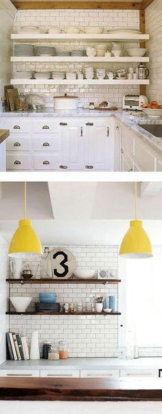 海外おしゃれ部屋とインテリア【ルームスタイル】: サブウェイタイルを使ったシンプルで清潔感のあるキッチン