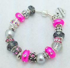 Bridesmaid European Charm Bracelet by Graceandliz on Etsy, $15.00