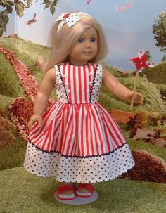 Stars and Stripes Holiday Dress and Matching Headband for