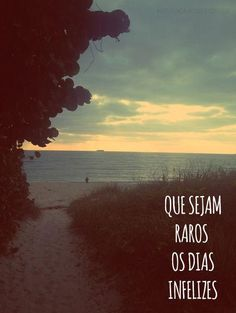 Dias infelizes A Hundred Years, Semper Fi, Thoughts, Sunset, Beach, Water, Quotes, Life, Outdoor