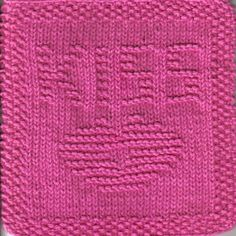 Kiss Knit Dishcloth Pattern Pucker up! This knit dishcloth pattern has a picture of a pair of lips puckered up for a kiss. Across the top of the cloth letters spell the word KISS.