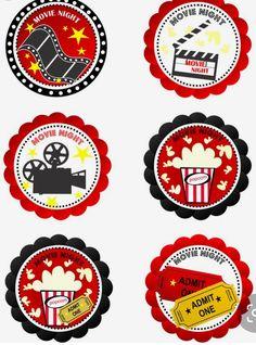 Movie Theater Party, Cinema Party, Movie Night Party, Movie Nights, Movie Cupcakes, Cupcake Party, Hollywood Party, Kino Party, Deco Cinema