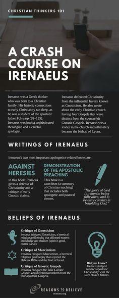 Thinkers A Crash Course on Irenaeus Crash Course on St. Irenaeus from Christian Thinkers Course on St. Irenaeus from Christian Thinkers 101