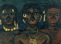 Emil Nolde, New Guinea Tribesmen, 1915, oil on canvas, 73 x 100.5 cm, Nolde Stiftung Seebüll