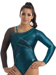Asymmetric Flame Competition Leotard from GK Elite