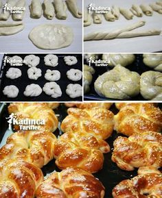 Eröffnungsrezept Soda Cotton, How To - Pasta Pastry Recipes, Cooking Recipes, Turkish Recipes, Ethnic Recipes, Bread Shaping, Soda Recipe, Good Food, Yummy Food, Bread And Pastries