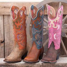 Tony Lama Pink Shaft Buckaroo Boots