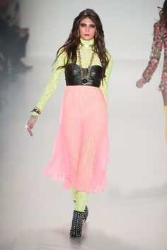 Betsey Johnson at New York Fall 2014. This is like fairy rocker chic HEAVEN. I'd so wear this.