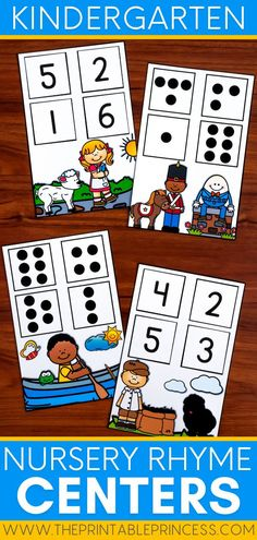 This common core aligned math and literacy centers packet has the sweetest nursery rhyme theme for back to school with kindergarten! Students will delight in CVC practice, phonemic awareness, letter identification, counting, subitizing, pattern recognition and more in these hands-on, interactive and engaging activities that are perfect for the early months in Kindergarten! Subitizing Activities, Kindergarten Math Activities, Counting Activities, Alphabet Activities, Preschool Classroom, Classroom Ideas, Teaching Numbers, Teaching The Alphabet, Nursery Rhymes Kindergarten