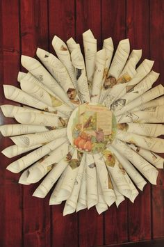 Build A Library Party Beatrix Potter Book Wreath - follow link for tutorial and party details