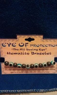 $5.99 Eye of protection hematite stretch bracelet**  two pretty blue shades to choose from turquoise and/or cobalt blue   **  OR   2 for $10.00 :)