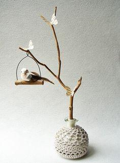 branche déco et oiseau