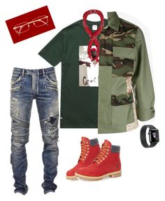 OSS PATCH!! by gurustreetwear on Polyvore featuring polyvore, Gucci, Manipuri, Sophnet., Balmain, Timberland, Cartier, fashion, style and clothing