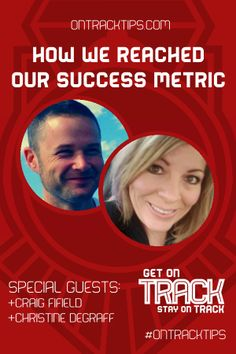 Mmy G+ Friends Success Stories - http://jtw.bz/Circloscope  We will be talking with two good friends of mine about their business success story.    +Christine DeGraff and +Craig Fifield will are in the final stages of their new product launch and it has been a long road and victory is right here!   A goal is a vision, a success Metric is the moment when your Goal or dream has been reached.   http://jtw.bz/Circloscope #OnTrackTips