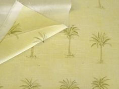 "56"" W Palm Trees on Cream Middle Weight Cotton Linen Upholstery Fabric – Fabric Cult"
