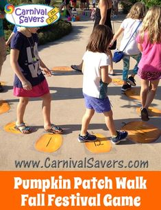 DIY Fall Festival Game - Pumpkin Patch Walk!