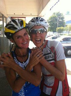 Amy Fruland-Smock and  Chrissie Wellington