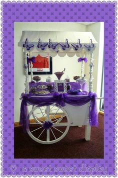 cadbury purple candy cart. The perfect wedding accessory to satisfy the sweet tooth!