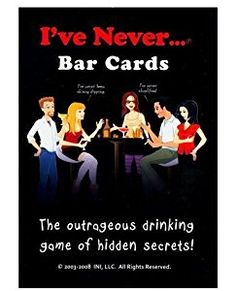Amazon.com: I've Never Bar Cards, The Outrageous Drinking Game of Hidden Secrets, This Game will Shock You, Surprise You, and Make You Laugh Out Loud, Includes 104 Questions and 10 Blank Cards: INI: Toys & Games