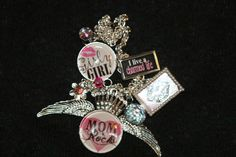 The Moms Live A Charmed Life Silver Blingy Charm by NessasCloset, $98.00