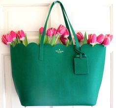 Kate Spade New York lily avenue carrigan tote in Green Kate Spade Handbags, Beautiful Bags, Purses And Bags, Fancy, My Style, Clothing, Side Purses, Forever Green, Happy Spring