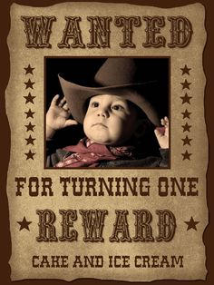 Cowboy Birthday Printable Party Package