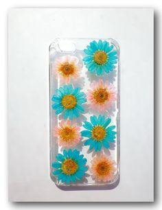 iPhone 5/5s case Resin with Real  Flower Turkey by Annysworkshop, $18.00