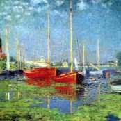 off Hand made oil painting reproduction of The Red Boats, Argenteuil, one of the most famous paintings by Claude Oscar Monet. Claude Oscar Monet's The Red Boats, Argenteuil, painted around captures a scene of seemingly static fishing bo. Monet Paintings, Impressionist Paintings, Impressionism, Landscape Paintings, Claude Monet, William Turner, Wassily Kandinsky, Popular Paintings, Framed Canvas Prints