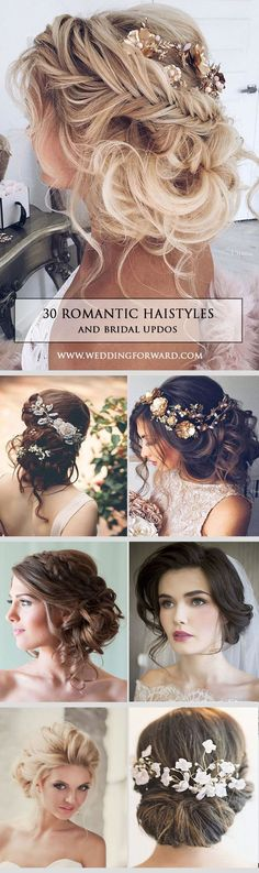 30 Most Romantic Bridal Updos ❤️ Wedding Hairstyles ? Whether you are looking for a long hairstyle, half up half down or bun style, we are sure to have something for you. See more: http://www.weddingforward.com/romantic-bridal-updos-wedding-hairstyles/ #weddings #hairstyles