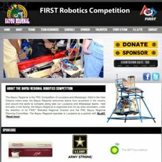 Robotics Bayou Regional Website Makeover