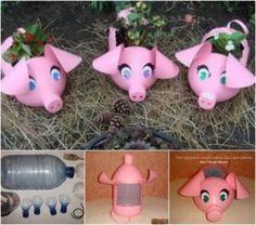 Plastic Piggy Planters