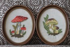 mushroom embroidery - Google Search