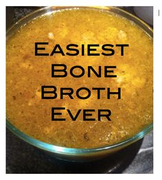 Low Carb Recipes To The Prism Weight Reduction Program The Easiest Bone Broth Recipe Ever - Ancestral Nutrition Slow Cooker Recipes, Paleo Recipes, Low Carb Recipes, Real Food Recipes, Crockpot Recipes, Soup Recipes, Cooking Recipes, Making Bone Broth, Dressings