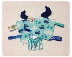 Fox tag toy sensory toy baby crinkle paper by SeeJaneCJaneSew