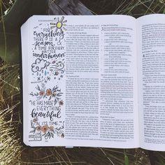 Steena's DBD: Ecclesiastes 3:11  #SteenasBible #ecclesiastes #Beautiful #God #handlettering #artistBible #typography #moderncalligraphy #Christian #Bible #devotion #JesusChrist #journalingBible #Biblejournaling #Biblejournal #craftedword #illustratedfaith #documentedfaith #Biblejournalingcommunity #30DaysofBibleLettering http://ift.tt/1KAavV3