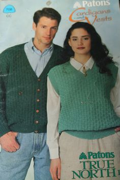 Knitting Patterns Cardigans and Vests Beehive Patons by elanknits (Craft Supplies & Tools, Patterns & Tutorials, Fiber Arts, Knitting, knitting patterns, cardigan patterns, vest patterns, waistcoat patterns, Christmas vest, snowflake vest, Patons 708, Cardigans and Vests, dk weight yarn, women, men, mens sweater pattern, knitting pattern)