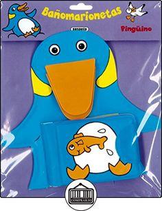 Pingüino (Bañomarionetas) de Equipo Susaeta ✿ Libros infantiles y juveniles - (De 0 a 3 años) ✿