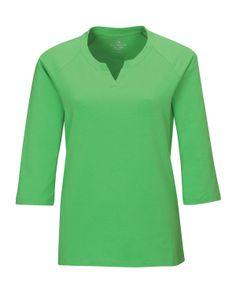 Women's Knit Elbow Tee Sleeve(95% Cotton 5% Spandex)  Tri mountain LB134
