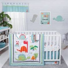 Trend Lab Dinosaur Roar 3 Piece Crib Bedding Set Multi - Baby Bed - Ideas of Baby Bed - Trend Lab Dinosaur Roar 3 Piece Crib Bedding Set Multi Price : Dinosaur Crib Bedding, Baby Crib Bedding Sets, Dinosaur Nursery, Baby Bedroom, Baby Cribs, Bedding Shop, Nursery Bedding, Nursery Room, Girl Nursery