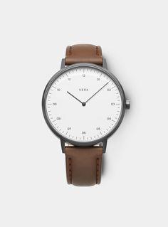 VERK Gunmetal / Tan Leather Model 01 Watch