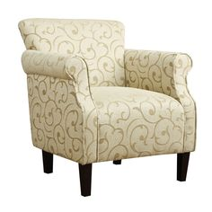 Tiburon Damask Chenille Arm Chair | Overstock.com