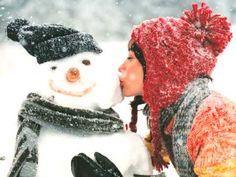Schneemann bauen und Schneeballschlacht