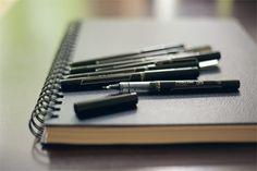Pilot Precise v5 pens - for sketching.