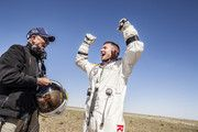 Life support engineer Mike Todd and Pilot Felix Baumgartner celebrate after successfully completing the final manned flight for Red Bull Stratos in Roswell, New Mexico, USA on October Red Bull Media House, Felix Baumgartner, Mike Todd, Spin Out, Who Will Win, Mission Accomplished, Newfoundland And Labrador, Space Photos, Skydiving