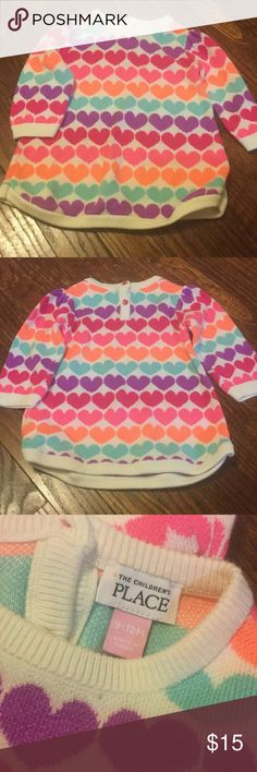 Kids sweater dress Adorable bright colored sweater dress. Brand new condition, she may have worn once. The Children's Place Dresses