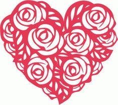 View Design #54245: heart of roses