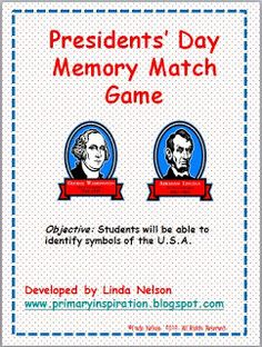 Classroom Freebies: Presidents Day Game